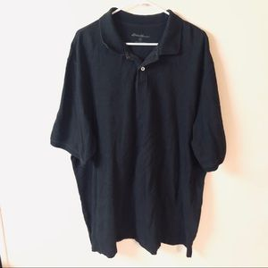 Eddie Bauer 2XL tall black polo shirt
